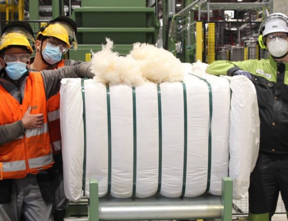 Production started at the unique textile fibre demo plant